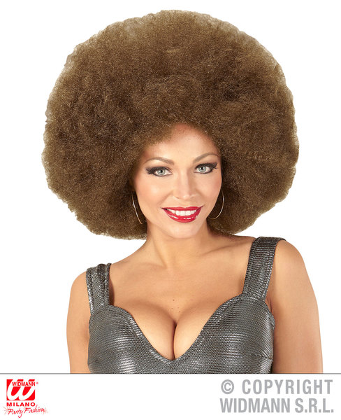 Top quality OVERSIZED AFRO WIG in polybag - BROWN