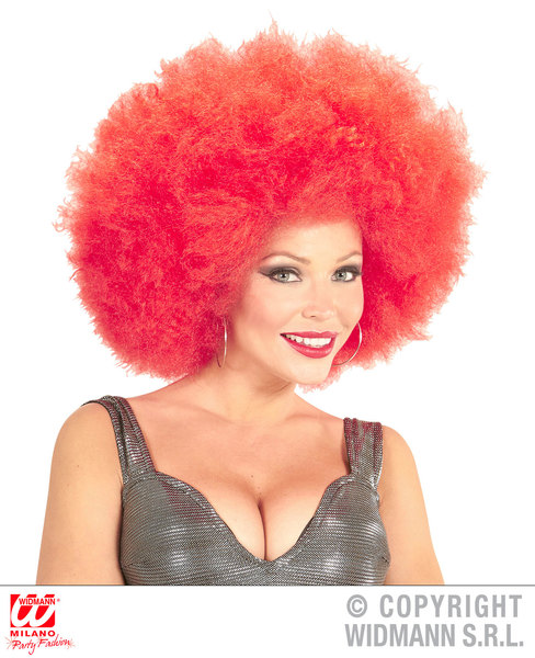 Top quality OVERSIZED AFRO WIG in polybag - RED