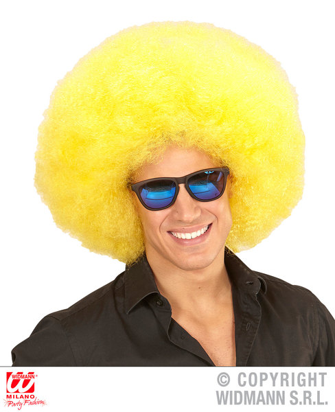 Top quality OVERSIZED AFRO WIG in polybag - YELLOW