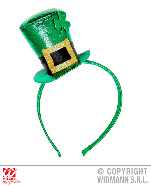 ST. PATRICK'S DAY METALLIC MINI TOP HAT ON HEADBAND