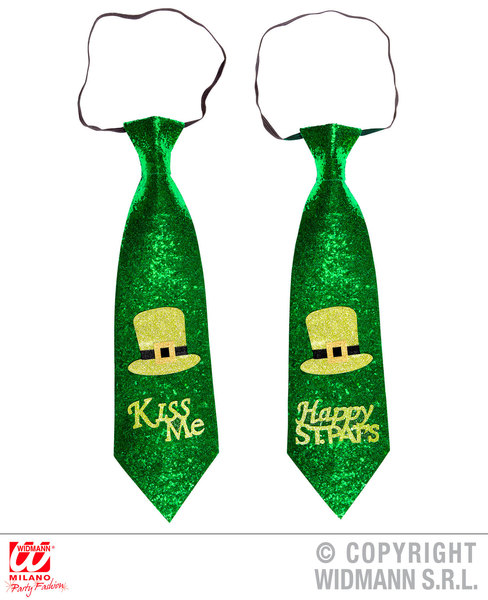 ST. PATRICK'S DAY GLITTER TIE 2 styles available