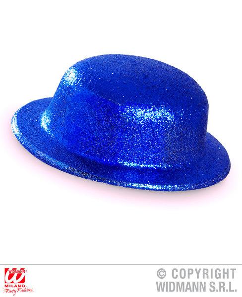 GLITTER BOWLER HAT - BLUE