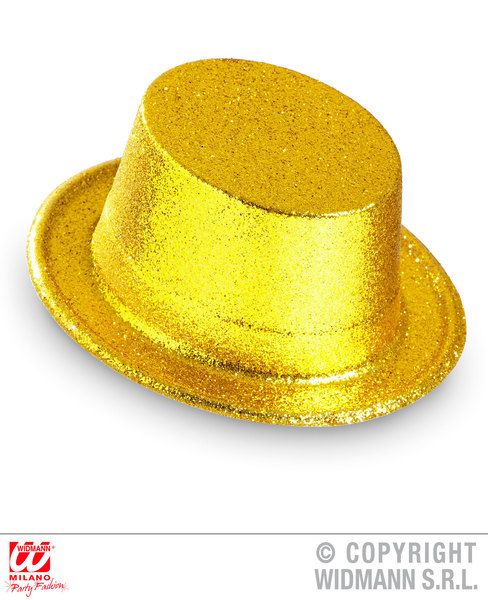 GLITTER TOP HAT - GOLD