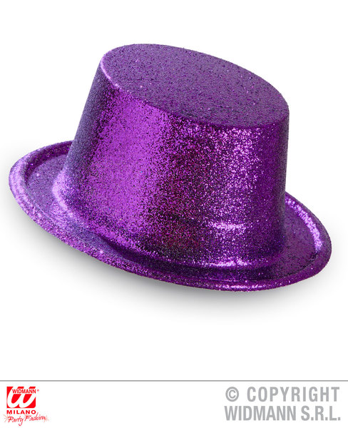 GLITTER TOP HAT - PURPLE