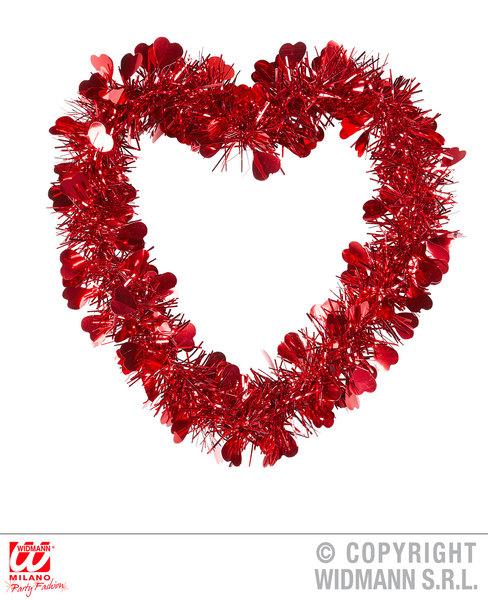 ST. VALENTINE'S DAY TINSEL HEART 22x22cm