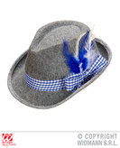 BAVARIAN FEDORA WITH BLUE FEATHERS