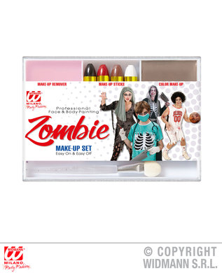 ZOMBIE MAKEUP SET (4 makeup sticks makeup remover applicator