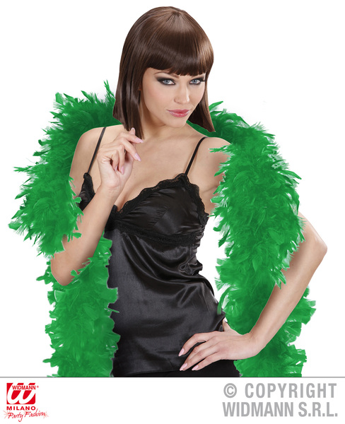 FEATHER BOA SMALL 180cm GREEN