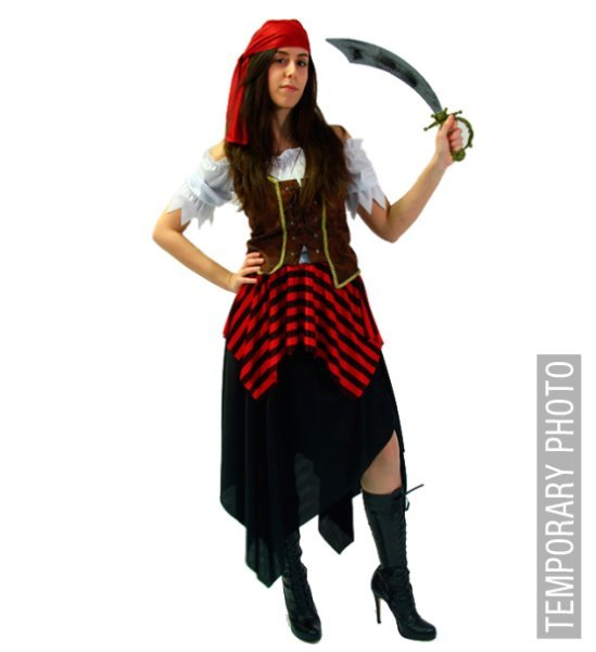 PIRATE GIRL (dress corset headband)