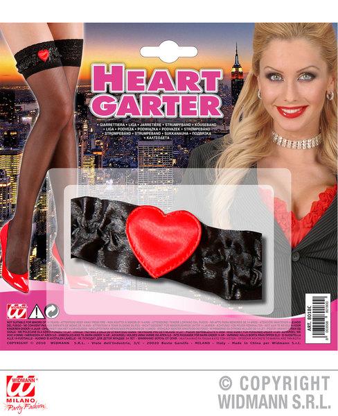 GARTER - BLACK HEART