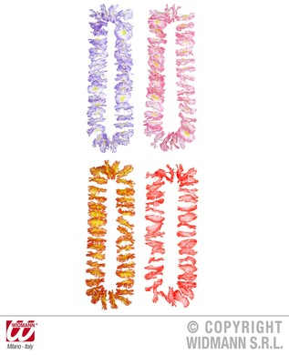 LUAU HAWAIIAN LEIS (lilac/pink/red/orange)