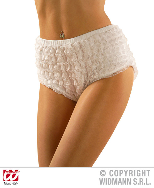 LACE PANTIES WHITE - medium only