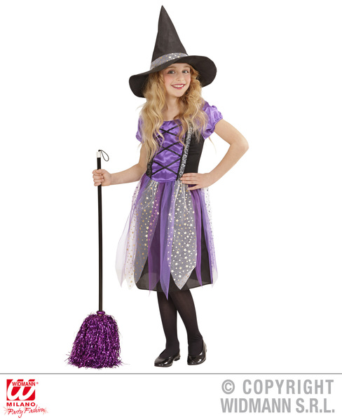 WITCH - PURPLE/BLACK (dress hat) Childrens