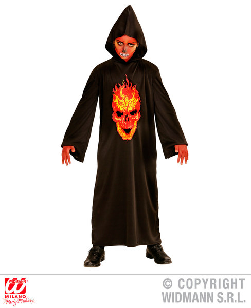 SKELETON DEVIL (hooded robe) Childrens