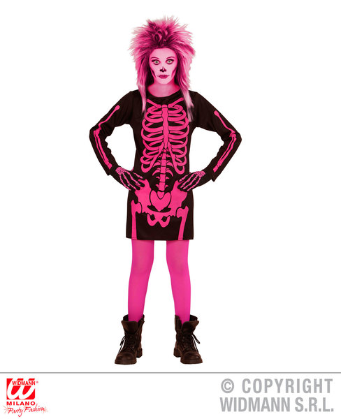 SKELETON GAL - PINK (dress) Childrens