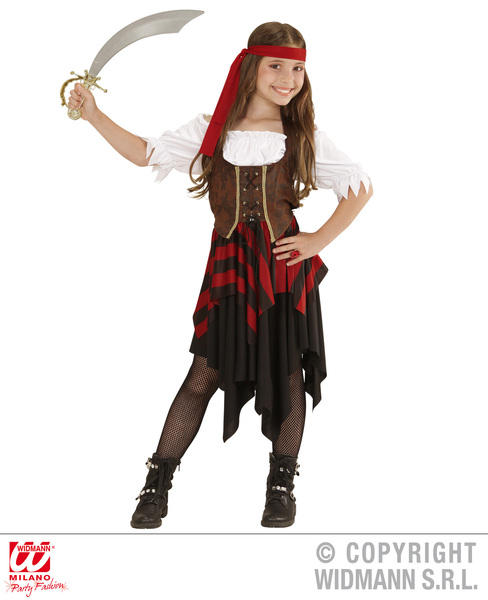 PIRATE GIRL (dress headband corset) Childrens