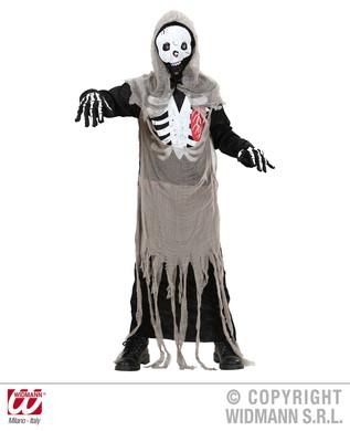 SKELETON ZOMBIE (hooded robe mask) Childrens