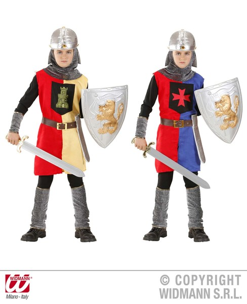 MEDIEVAL WARRIOR - 2 colours (coat belt helmet) Childrens