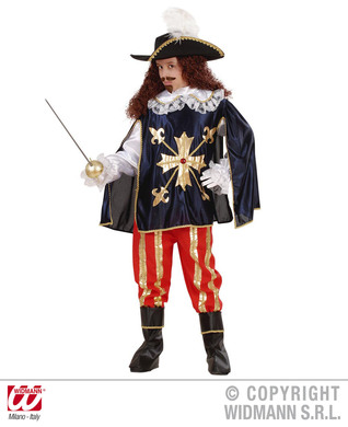 MUSKETEER COSTUME (shirt w/coat pants b/covers hat) Childrens