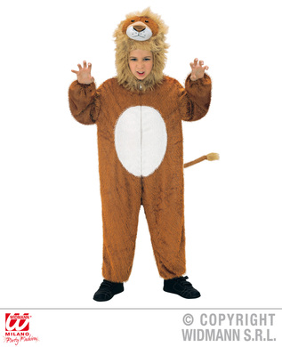 PLUSH LION (hooded jumpsuit with mask) Childrens