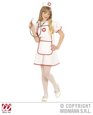 NURSE COSTUME F/OPTIC (dress hat) Childrens