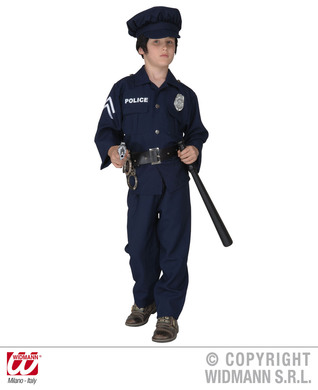 POLICEMAN COSTUME F/OPTIC (jacket pants belt hat) Childrens