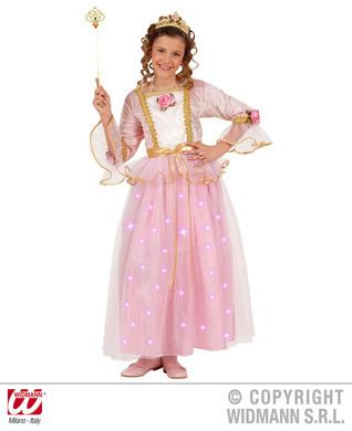 PINK PRINCESS F/OPTIC (dress w/light up skirt tiara) Childrens