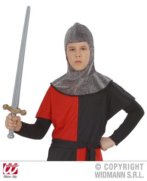 MEDIEVAL WARRIOR HOOD METALLIC - CHILD SIZE