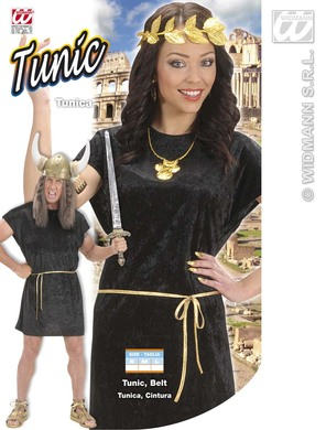 BLACK TUNIC (tunic with gold belt)