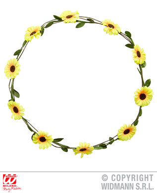 YELLOW DAISY FLOWER DIADEM - HARD / ADJUSTABLE
