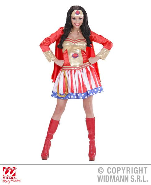 SUPER HERO GIRL (dress w/cape headpiece)