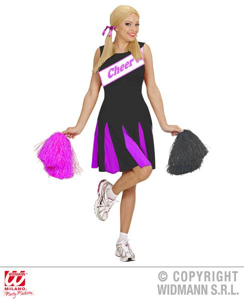 CHEERLEADER - BLACK/PINK (dress)