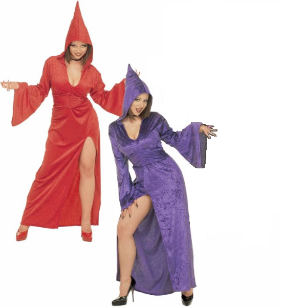 GOTHIC TEMPTRESS XL (hooded robe belt)  red or purple only