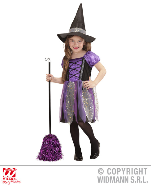 LITTLE WITCH - PURPLE/BLACK - assorted sizes (dress hat)
