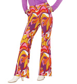 GROOVY 70'S LADY PANTS - ORCHIDS