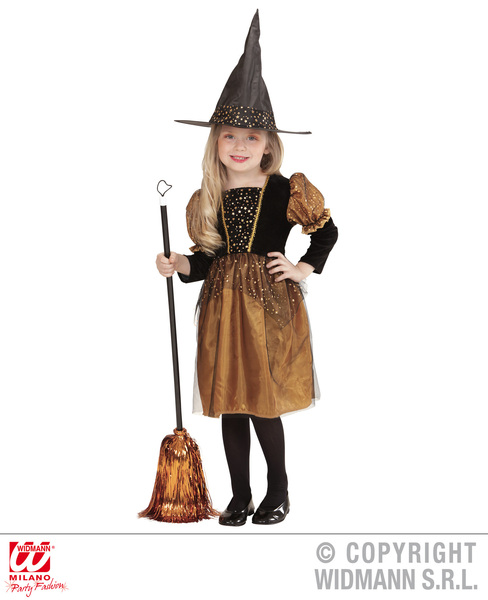WITCH - TOFFEE/BLACK (110cm/116cm) (dress hat)