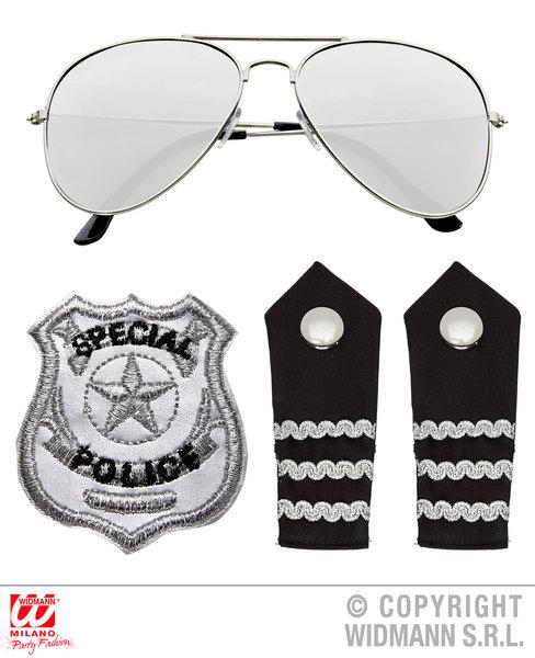 POLICE SET (glasses epaulettes badge)