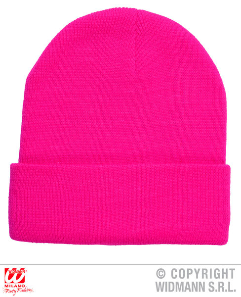 NEON PINK BEANIE HAT