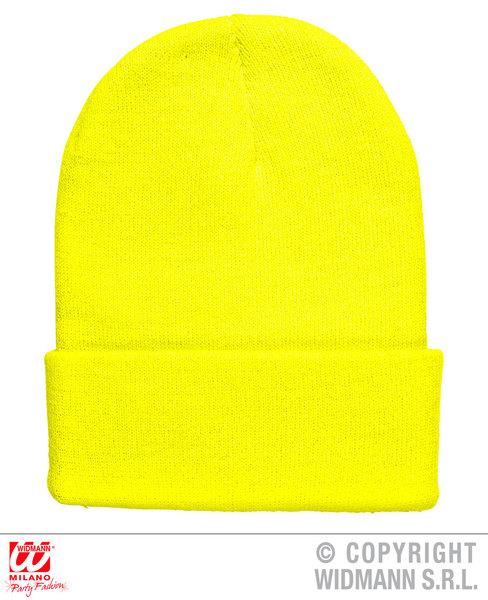 NEON YELLOW BEANIE HAT