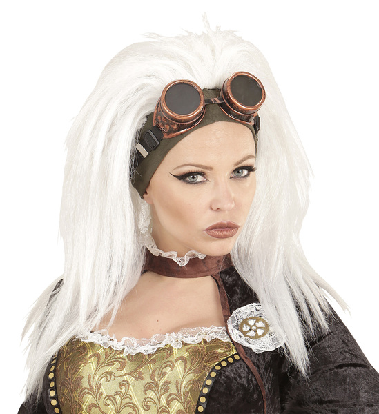 STEAMPUNK WIG WITH GOGGLES