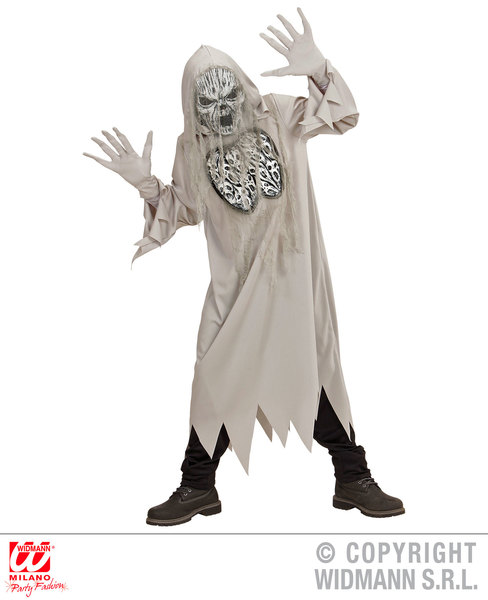 childrens howling ghost costume spooky frightening scary halloween fancy dress picture 2 of 3