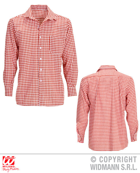 RED CHEQUERED SHIRT FOR MAN
