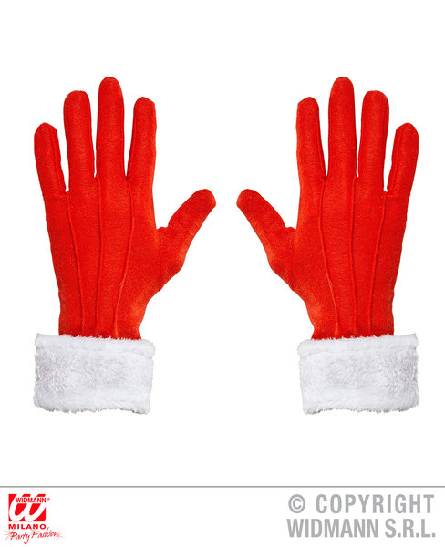 SANTA CLAUS GLOVES WITH PLUSH TRIM