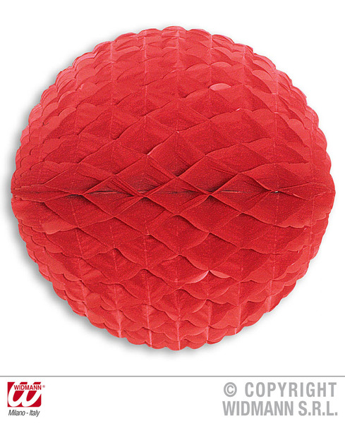 HONEYCOMB CHINA RED PAPER BALLS 33cm