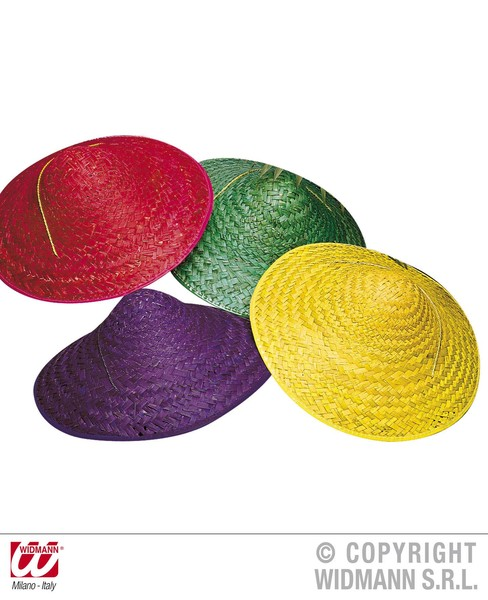 STRAW VIETKONG HAT - 4 colours