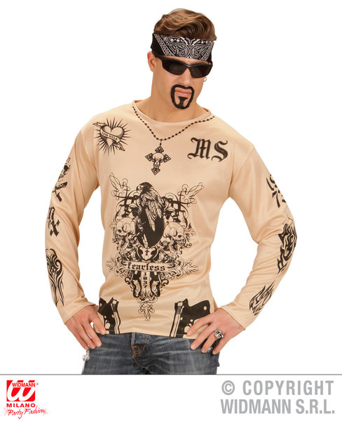 LATINO GANGSTER TATTOO SHIRT (M/L)