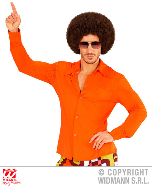 GROOVY 70s MAN SHIRT - ORANGE (XXL)