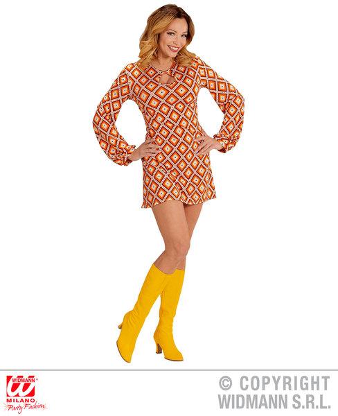 GROOVY 70s LADY RETRO DRESS - RHOMBUS