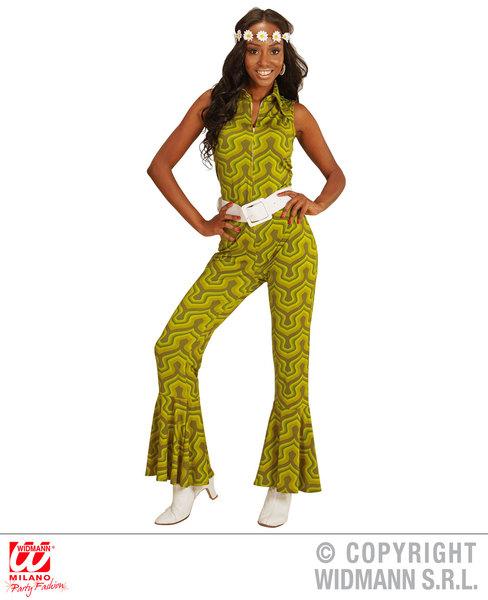 GROOVY 70s LADY JUMPSUIT - WALLPAPER