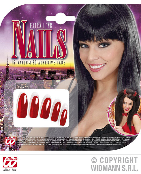 Nails Extra Long Red Makeup Beauty Cosmetics